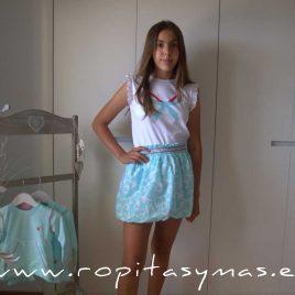 Conjunto falda niña LYSSA de EVA CASTRO, verano 2021
