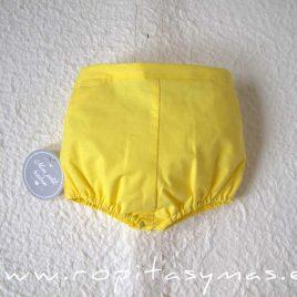 Bombacho niño amarillo de MON PETIT BONBON, verano 2021