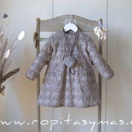 Vestido engomado GEOMÉTRICO gris de ANCAR, invierno 2021