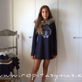Vestido neopreno marino MAKARAMA de BELLA BIMBA, invierno 2021