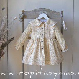 Vestido liberty MOUTARD EVE CHILDREN, invierno 2021