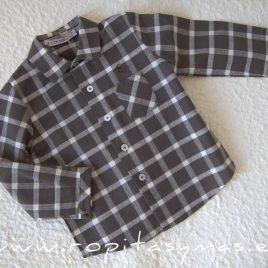 Camisa niño cuadros MOUTARD de EVE CHILDREN, invierno 2021