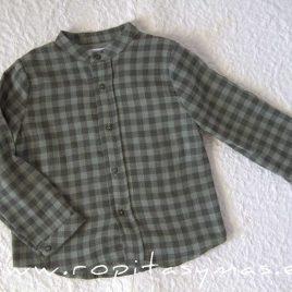 Camisa niño cuadros GREEN ALIVE de EVE CHILDREN, invierno 2021
