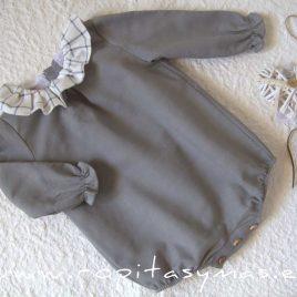 Pelele gris VAPOR GREY de EVE CHILDREN, invierno 2021
