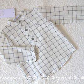 Camisa niño cuadros VAPOR GREY de EVE CHILDREN, invierno 2021
