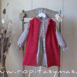 Chaleco rojo capucha STAR de EVE CHILDREN, invierno 2021
