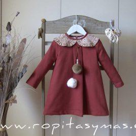 Vestido cuello liberty ROSE de EVE CHILDREN, invierno 2021