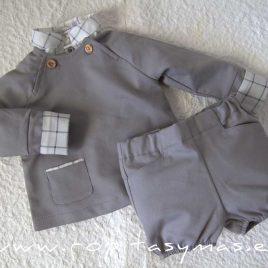 Sudadera bebé gris VAPOR GREY de EVE CHILDREN, invierno 2021