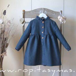 Vestido jeans petróleo BLUE DUCK EVE CHILDREN, invierno 2021