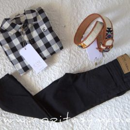 Pantalón pitillo unisex negro BRANDY de EVE CHILDREN, invierno 2021