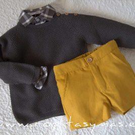 Jersey gris antracita MOUTARD de EVE CHILDREN, invierno 2021