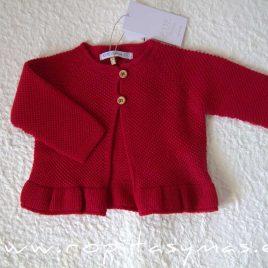 Chaqueta roja volante STAR de EVE CHILDREN, invierno 2021
