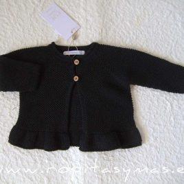 Chaqueta negra volante BRANDY de EVE CHILDREN, invierno 2021