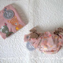 Sudadera bebé niña rosa CIERVOS de MON PETIT BONBON, invierno 2021