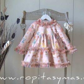 Vestido rosa tul CROMOS de MON PETIT BONBON, invierno 2021