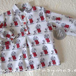 Camisa mao niño PERRO Y NIÑA de MON PETIT BONBON, invierno 2021