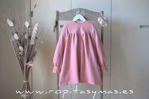 Vestido rosa filo dorado de MON PETIT BONBON