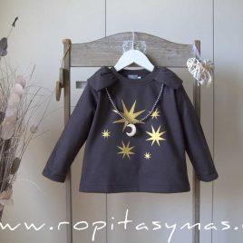 Collar LUNA dorada de MON PETIT BONBON, invierno 2021