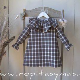Vestido cuadros MOUTARD de EVE CHILDREN, invierno 2021