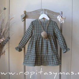 Vestido cuadros GREEN ALIVE de EVE CHILDREN, invierno 2021