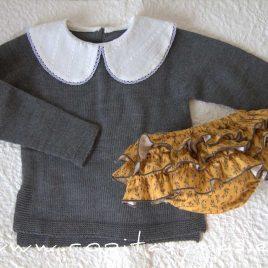 Conjunto jersey y braga HELECHO de LA PEPPA, invierno 2021
