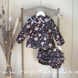Conjunto bombacho y blusa floral MÉRIDA de LA PEPPA, invierno 2021
