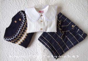 Conjunto pantalón y jersey marino TRAVIS de LA PEPPA