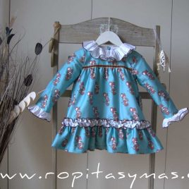 Vestido RATONES de MON PETIT BONBON, invierno 2021