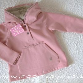 Sudadera niña rosa LILY de EVA CASTRO, invierno 2021