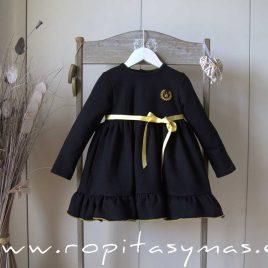 Vestido algodón negro SHANTAL de EVA CASTRO, invierno 2021