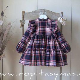 Vestido escocés LILY de EVA CASTRO, invierno 2021