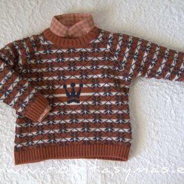 Jersey niño multicolor GIULIA de EVA CASTRO, invierno 2021