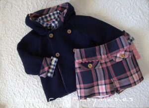 Conjunto recortado con chaquetón LILY de EVA CASTRO