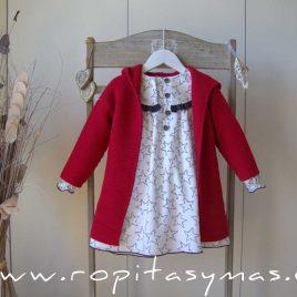 Abrigo de punto rojo STAR de EVE CHILDREN, invierno 2021