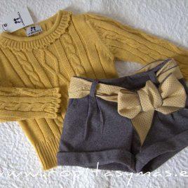 Conjunto niña short y  jersey SRI LANKA de LA MARTINICA, invierno 2021