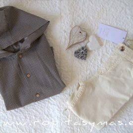 Camisa capucha cuadros GEOMÉTRICA de ANCAR, invierno 2021