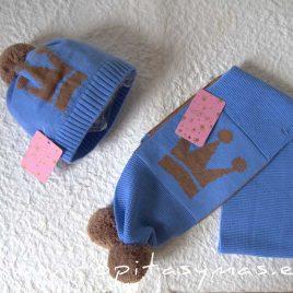 Bufanda azul EMILY de EVA CASTRO, invierno 2021