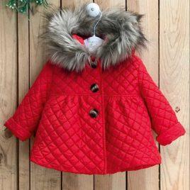 Abrigo acolchado bebé niña ROJO de VALENTINA BEBÉ, invierno 2021
