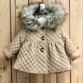 Abrigo acolchado bebé niña CÁMEL de VALENTINA BEBÉ, invierno 2021