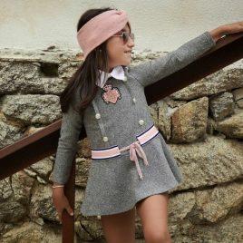 Vestido espiga gris ALEGRÍA de KAULI, invierno 2021
