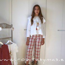 Conjunto pantalón cuadros culotte EIRE de NOMA, invierno 2021